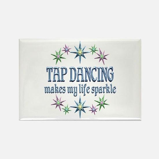 Tap Dancing Sparkles Rectangle Magnet