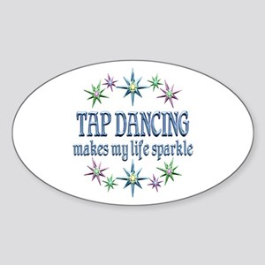 Tap Dancing Sparkles Sticker (Oval)