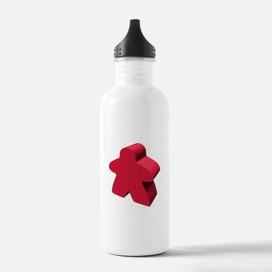 Red Meeple Water Bottle