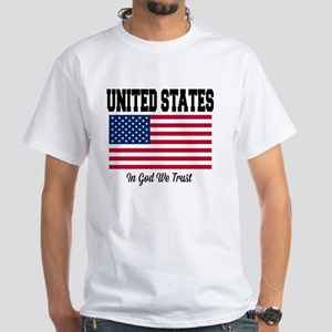 United States - In God We Trust White T-Shirt