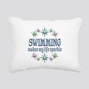 Swimming Sparkles Rectangular Canvas Pillow