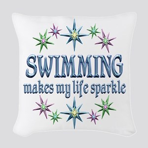 Swimming Sparkles Woven Throw Pillow