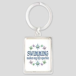 Swimming Sparkles Portrait Keychain