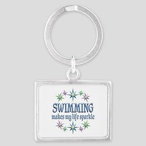 Swimming Sparkles Landscape Keychain