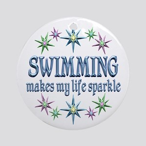 Swimming Sparkles Ornament (Round)
