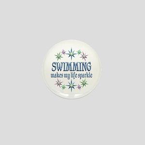 Swimming Sparkles Mini Button