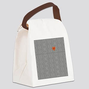 Grey Cream Arrowheads Stitch Pattern Canvas Lunch