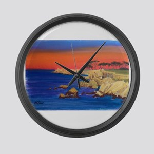 Lovers Point Monterey Large Wall Clock