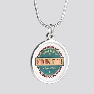 Dancing It Out Since 2005 Silver Round Necklace