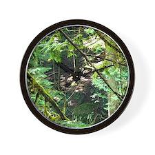 forest light Wall Clock