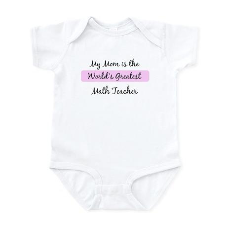 Worlds Greatest Math Teacher Infant Bodysuit
