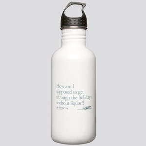 Holidays Without Liquor Quote Stainless Water Bott