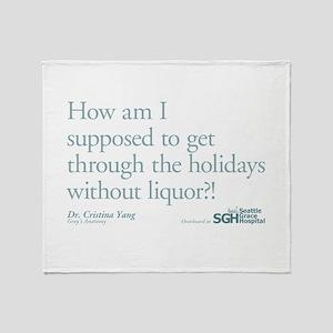 Holidays Without Liquor Quote Stadium Blanket