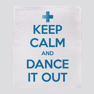 Keep Calm and Dance It Out Stadium Blanket