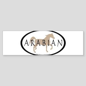 arabian horse oval text tan Bumper Sticker