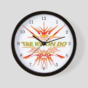 TaeKwonDo Abstract Sparring Wall Clock