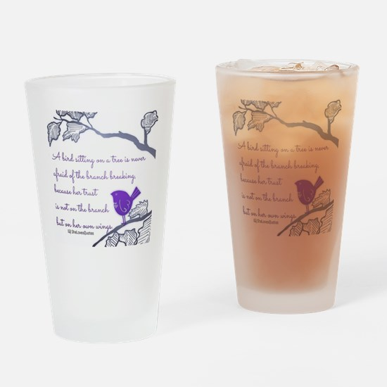 Her own wings Drinking Glass