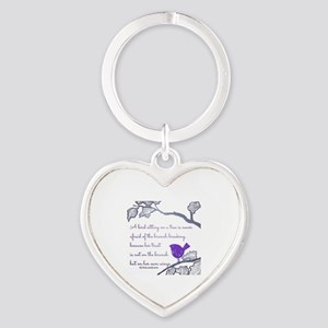 Her own wings Heart Keychain