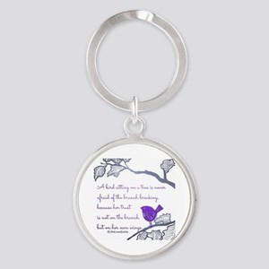 Her own wings Round Keychain