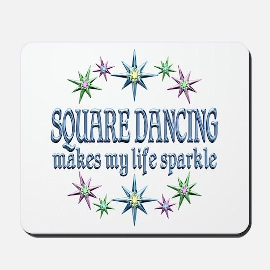 Square Dancing Sparkles Mousepad