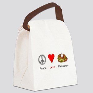 Peace Love Pancakes Canvas Lunch Bag