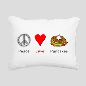 Peace Love Pancakes Rectangular Canvas Pillow