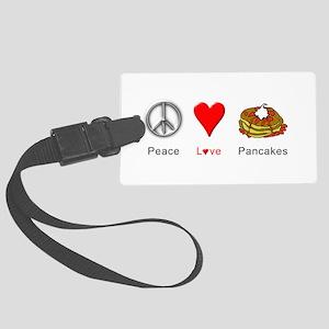 Peace Love Pancakes Large Luggage Tag