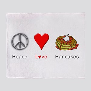 Peace Love Pancakes Throw Blanket