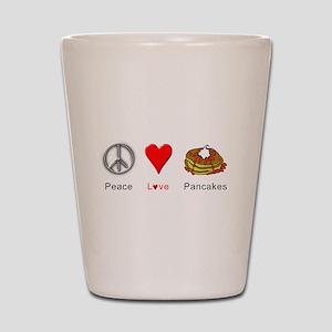 Peace Love Pancakes Shot Glass