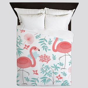 Pink Flamingos Queen Duvet