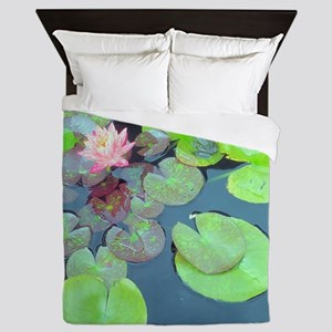 Lily Pads with Frog Queen Duvet