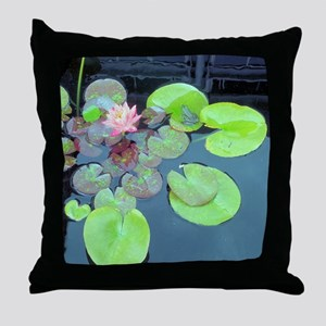 Lily Pads with Frog Throw Pillow