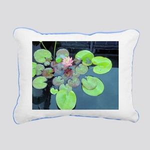 Lily Pads with Frog Rectangular Canvas Pillow