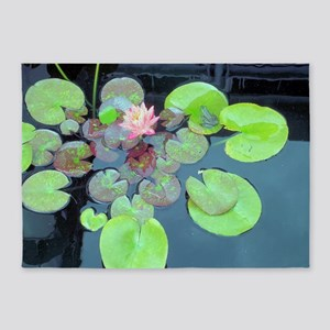 Lily Pads with Frog 5'x7'Area Rug