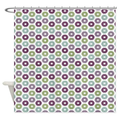 what color shower curtain for a small bathroom small floral shower curtain by mlsdesigns 26461