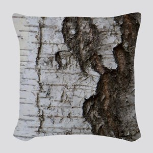 Birch tree Woven Throw Pillow