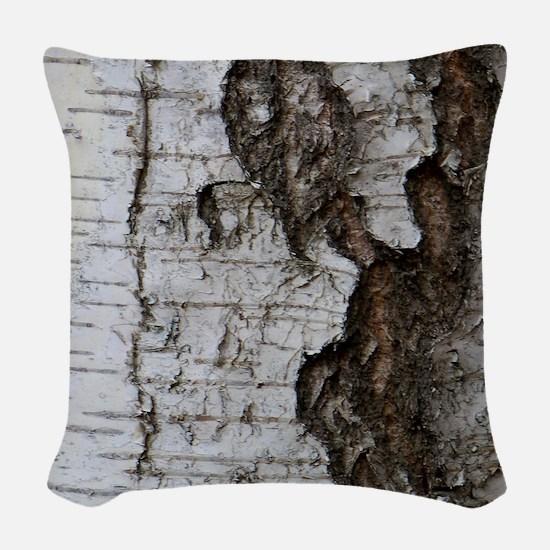 Birch tree Woven Throw Pillow