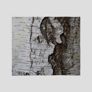 Birch tree Throw Blanket