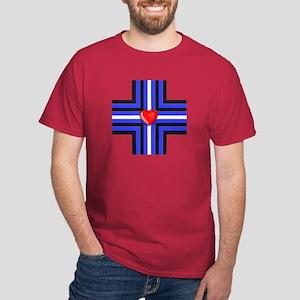 LEATHER PRIDE CROSS Dark T-Shirt