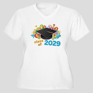2029 graduation Women's Plus Size V-Neck T-Shirt