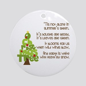 O Christmas Tree Ornament (Round)