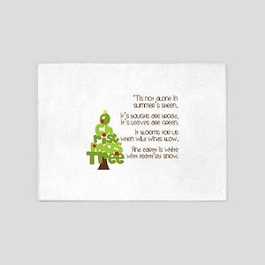 O Christmas Tree 5'x7'Area Rug