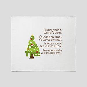 O Christmas Tree Throw Blanket