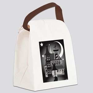 Haunted Victorian House Canvas Lunch Bag