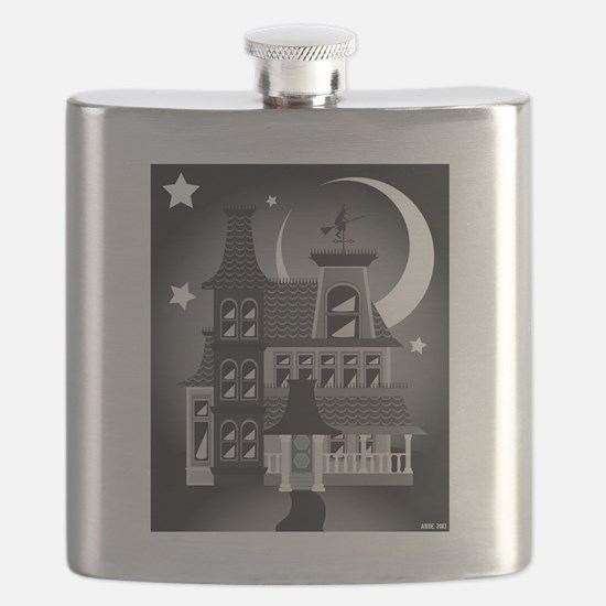 Haunted Victorian House Flask