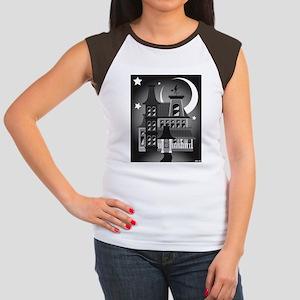 Haunted Victorian House Women's Cap Sleeve T-Shirt
