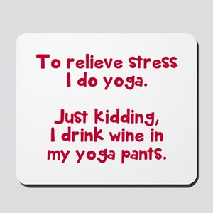 drink wine in Mousepad