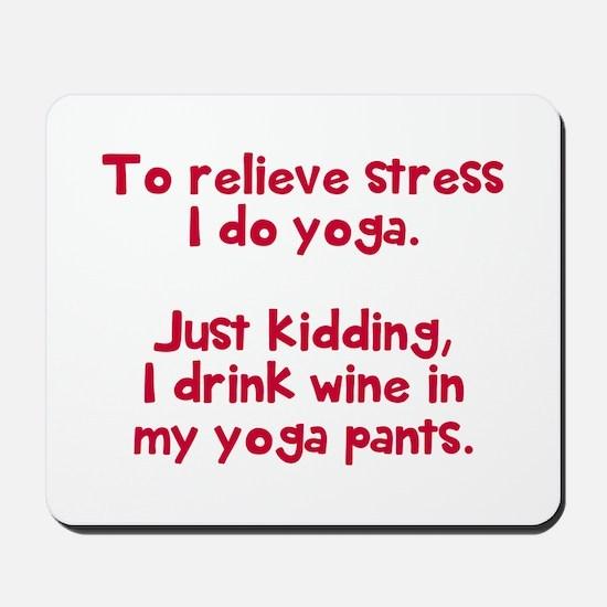 drink wine in Mousepad