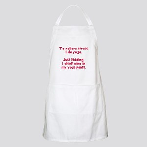 drink wine in Apron