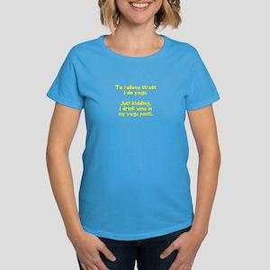 drink wine in Women's Dark T-Shirt